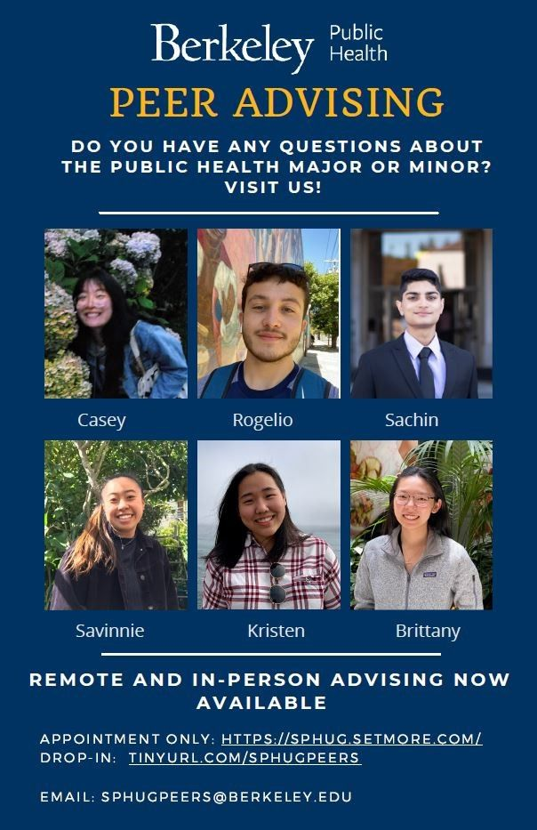 BPH Peer Advising: Do you have any questions about the major or minor? Visit us! Remote and in-person advising now available. Link will open scheduling information in a new tab.